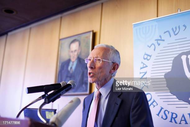 Bank of Israel Governor Stanley Fischer speaks during his last press conference as a Governor on June 25 2013 in Jerusalem Israel Fischer will be...