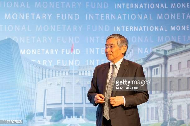 Bank of Japan Governor Haruhiko Kuroda attends the 2019 Michel Camdessus Central Banking Lecture at the International Monetary Fund headquarters in...