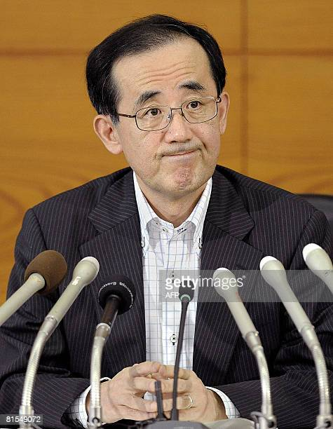 Bank of Japan Governor Masaaki Shirakawa listens to questions during a press conference at the headquarters of Japanese central bank in Tokyo on June...