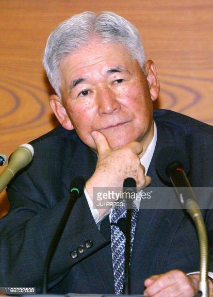 Bank of Japan Governor Toshihiko Fukui listens to a question during a press conference at the BOJ headquaters in Tokyo 22 May 2003. Fukui said the...