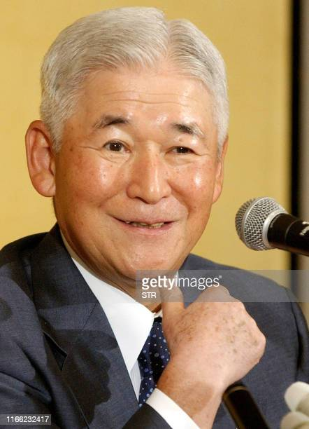 Bank of Japan Governor Toshihiko Fukui speaks during a news conference in Nagoya, 03 September 2003. Fukui said that he would be watching to see if...