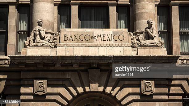 bank of mexico in mexico city - mexico stock pictures, royalty-free photos & images