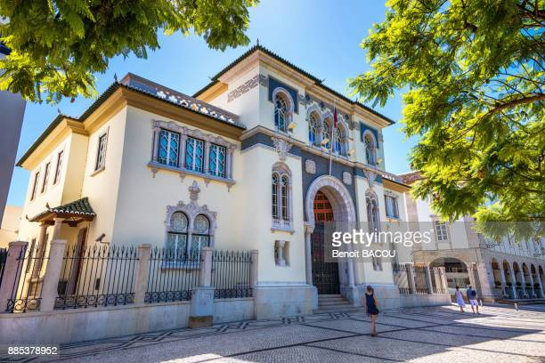 bank of portugal in the city of faro, algarve region, portugal - faro city portugal stock photos and pictures
