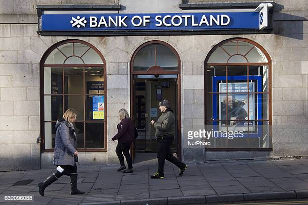 Bank Of Scotland branch in Aberdeen on January 9, 2017.