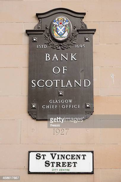 bank of scotland offices, glasgow - theasis stockfoto's en -beelden