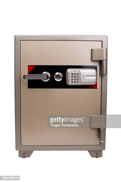 Bank safe isolated on white background