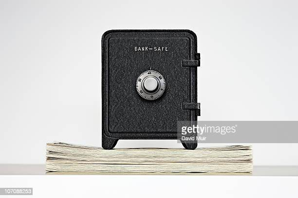 bank safe on a computer mouse