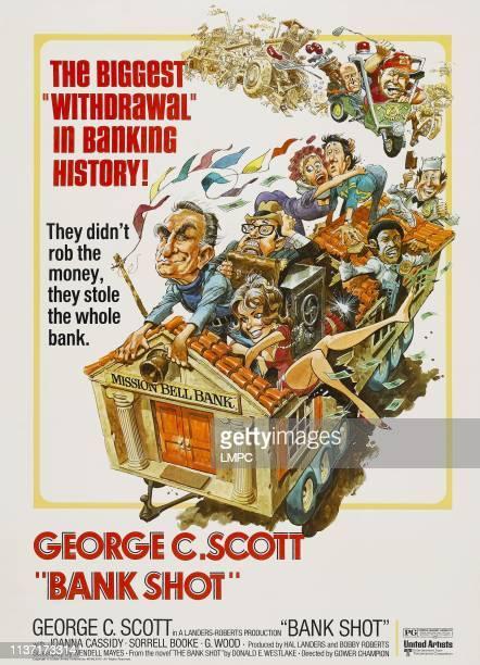 Bank Shot poster poster illustrated by Jack Davis Sorrell Booke Joanna Cassidy George C Scott Frank McRae Don Calfa Bob Balaban Bibi Osterwald 1974