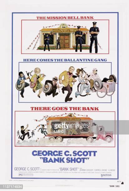 Bank Shot poster US poster art Sorrell Booke Joanna Cassidy George C Scott Frank McRae Don Calfa Bob Balaban Bibi Osterwald 1974