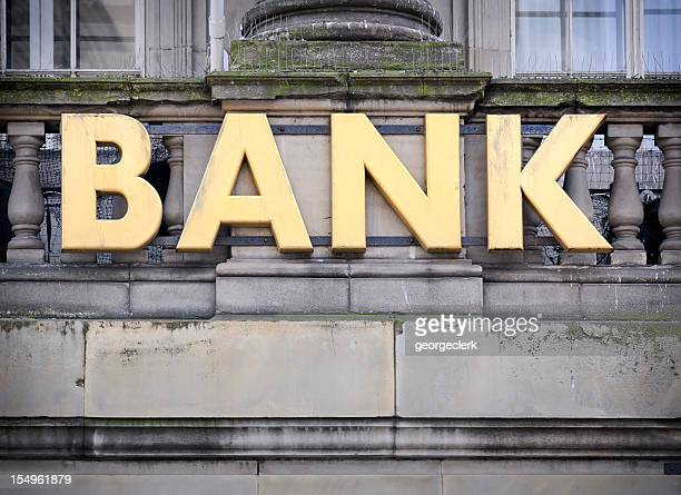 Bank Sign Close Up