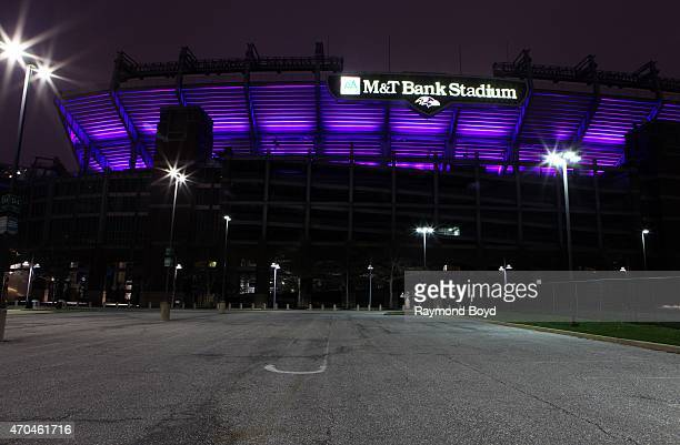 Bank Stadium, home of the Baltimore Ravens football team on April 9, 2015 in Baltimore, Maryland.