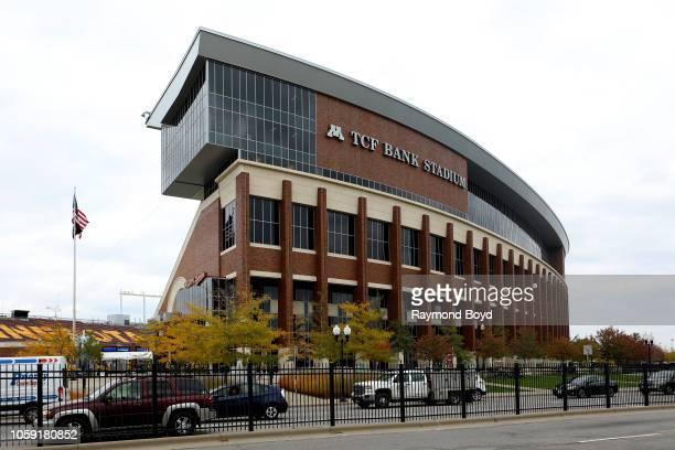 Bank Stadium, home of the Minnesota Golden Gophers football team and Minnesota United FC soccer team in Minneapolis, Minnesota on October 13, 2018.