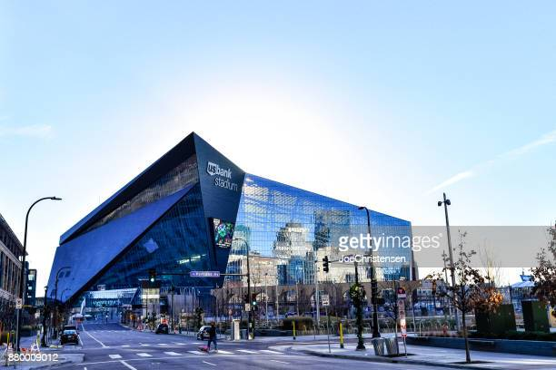 us bank stadium in downtown minneapolis - minneapolis stock photos and pictures