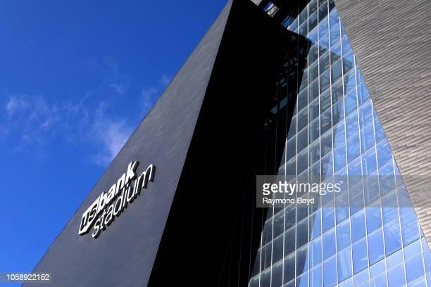 Bank Stadium signage, home of the Minnesota Vikings in Minneapolis, Minnesota on October 13, 2018.
