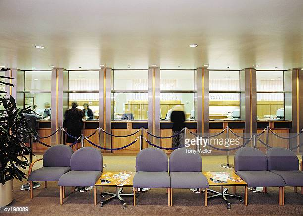 Bank teller windows