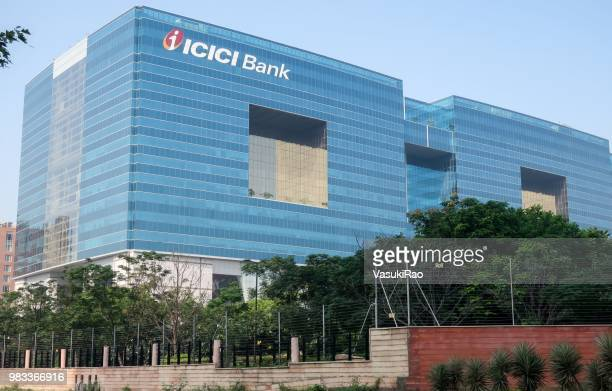 icici bank tower in hyderabad, telangana, india - bank financial building stock pictures, royalty-free photos & images