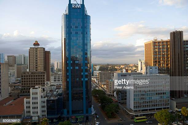 i&m bank tower - nairobi stock pictures, royalty-free photos & images