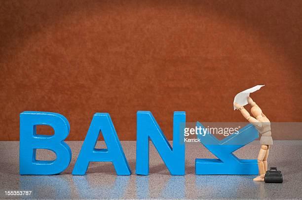 Bank-Mannequin en bois preuve de ce mot