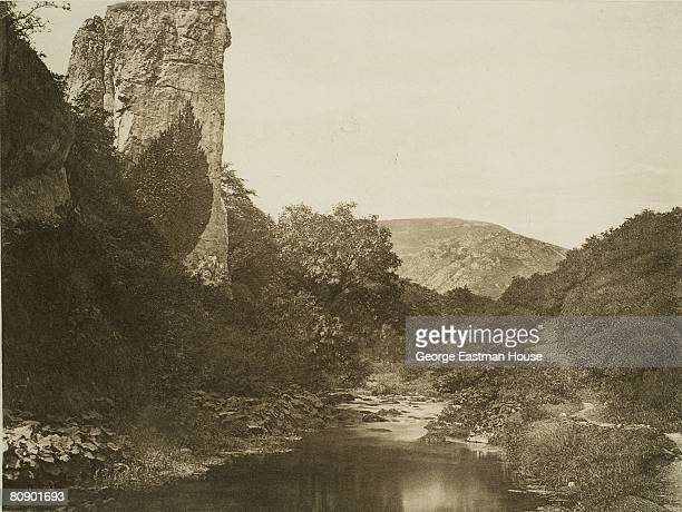 Bankart George English Pickering Tor Dove Dale View of Pickering Tor a series of limestone crags in Derbyshire England 01/01/1887