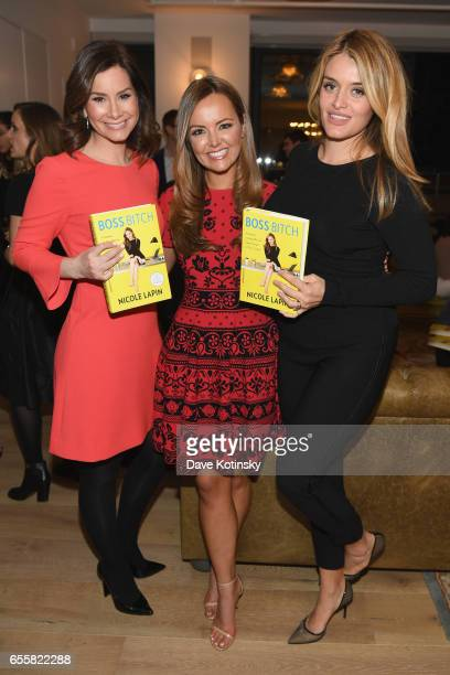 Banker and journalist Rebecca Jarvis Nicole Lapin and author and TV host Daphne Oz attend a private party to celebrate the release of Nicole Lapin's...