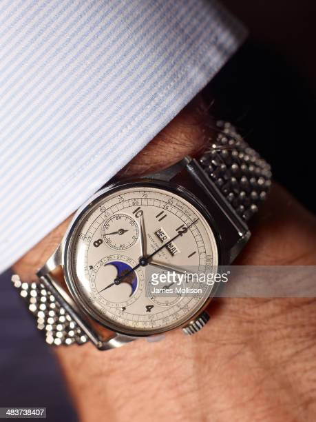 Banker and watch collector Alfredo Paramico is photographed for Bloomberg Markets magazine on June 12 2012 in Milan Italy
