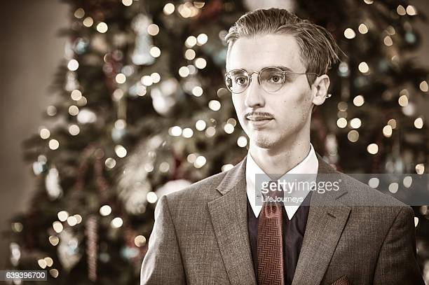Banker from 1940's Christmas Portrait