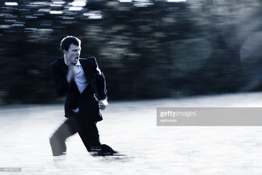 Banker on the run : Stock Photo