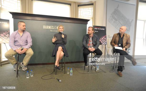 Banker White Amy Grantham Tom Berninger and Mark Adams attend Tribeca Talks Pen to Paper Putting The 'I' In 'Film' during the 2013 Tribeca Film...