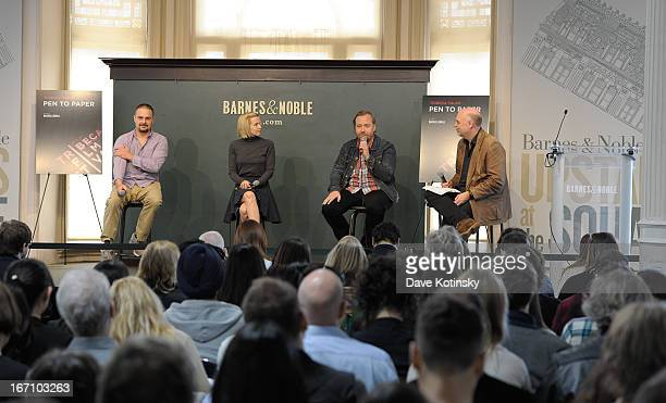 Banker White Amy Grantham Tom Berninger and Mark Adams attend Tribeca Talks Pen to Paper Putting The I In Film during the 2013 Tribeca Film Festival...