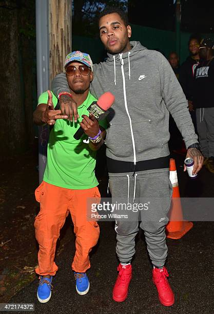 Bankhead and Kevin Gates attend StreetzFest2k15 at Masquerade Music Park Historic Fourth Ward Park on April 18 2015 in Atlanta Georgia