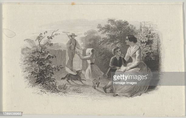 Banknote vignette with a family in a garden, ca. 1824-37. Artist Attributed to Asher Brown Durand.