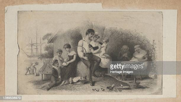 Banknote vignette with figures of different ages, representing the stages of life, ca. 1824-37. Artist Attributed to Asher Brown Durand.