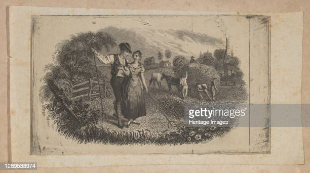 Banknote vignette with haymakers symbolizing rural industry, ca. 1824-37. Artist Attributed to Asher Brown Durand.