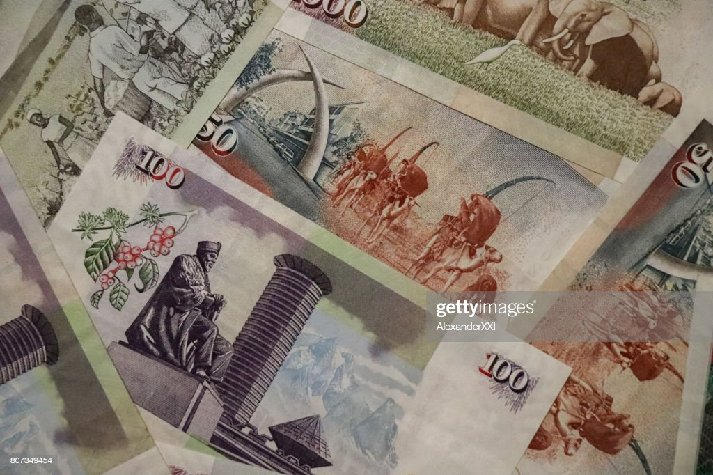 Banknotes Of Kenya Of Different Types And Years World Paper Money