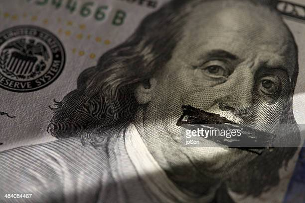 usd banknotes - see no evil hear no evil speak no evil stock pictures, royalty-free photos & images