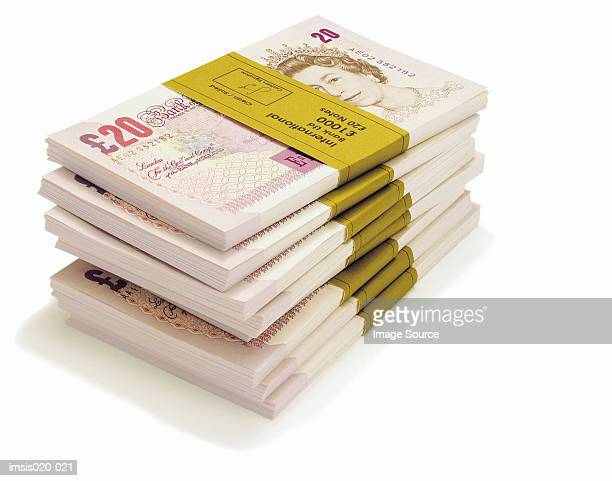 banknotes - british pound sterling note stock pictures, royalty-free photos & images