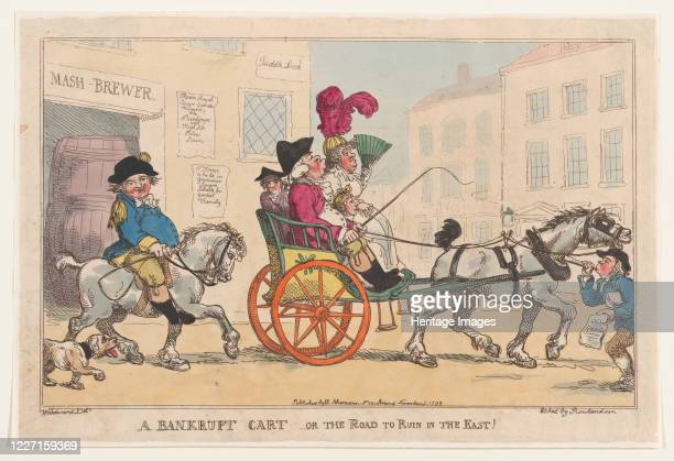 Bankrupt Cart, or The Road to Ruin in the East!, November 5, 1799. Artist Thomas Rowlandson.