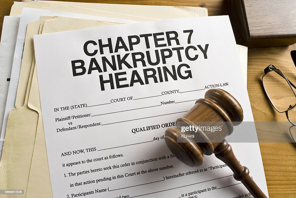 Bankruptcy Chapter 7 Paperwork : Stock Photo