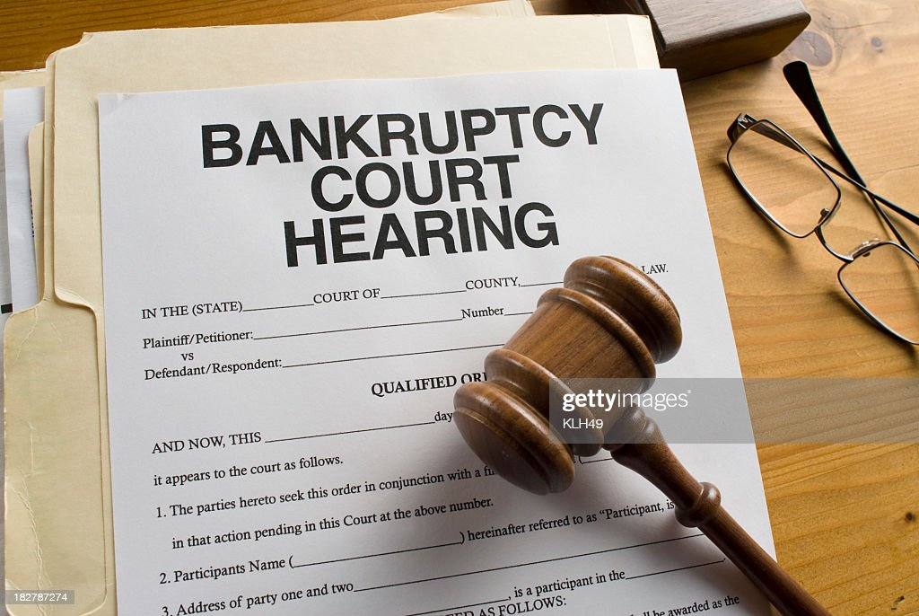 Bankruptcy Court Hearing paperwork : Stock Photo