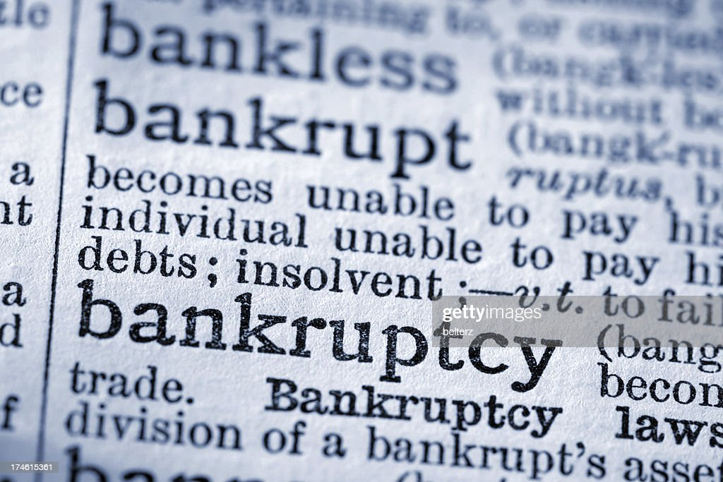 Bankruptcy : Stock Photo