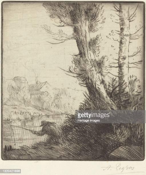Banks of the Oise . Artist Alphonse Legros.