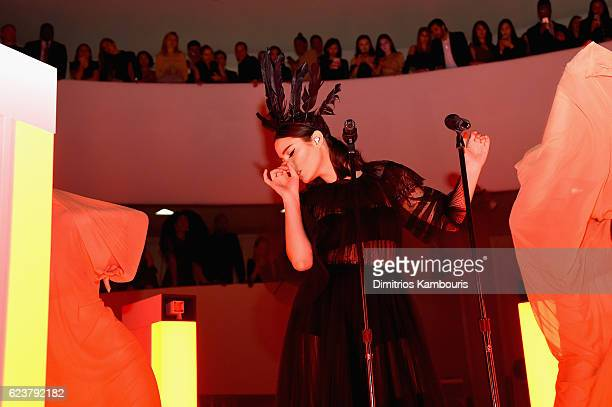 Banks performs at the 2016 Guggenheim International PreParty made possible by Dior at Solomon R Guggenheim Museum on November 16 2016 in New York City