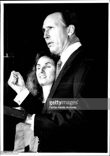 Banks town workers clubPaul and Annita Keating announce victory in the general election March 13 1993
