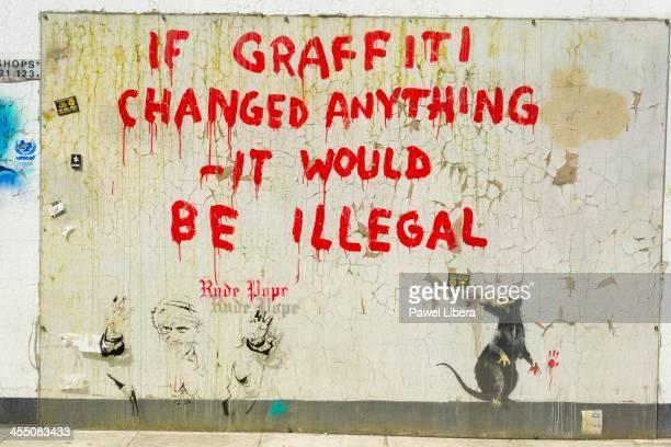 Banksy's Graffiti in Clipstone Street Camden