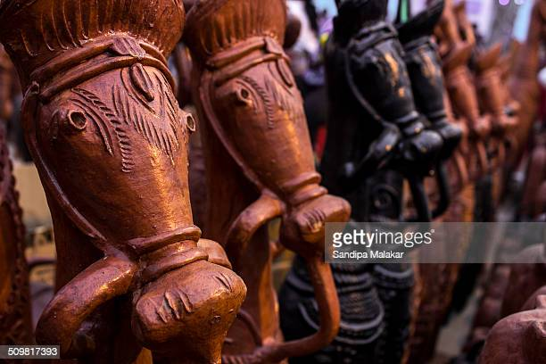 Bankura and Bishnupur in westbengal are two places famous for handcrafted clay pots n models such as these horses They have typical design of this...