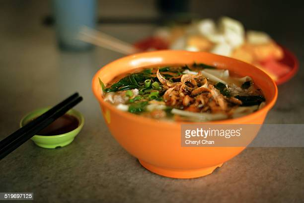 Banmian - flat noodle in soup with anchovies