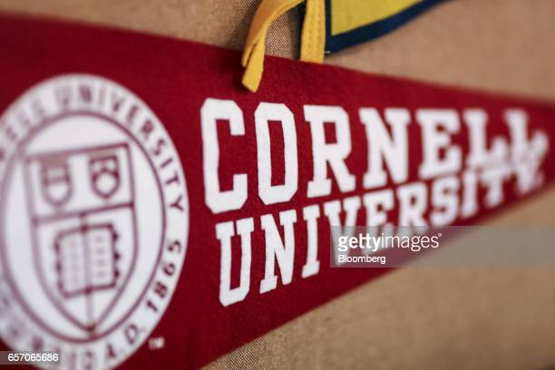 A banner for Cornell University is displayed in a classroom at the United StatesIndia Education Foundation in Mumbai India on Wednesday March 8 2017...