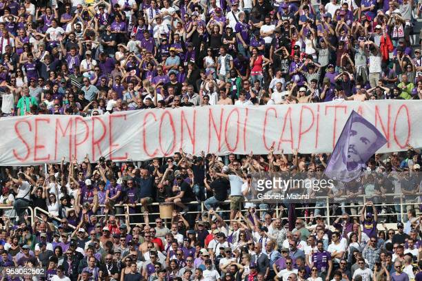 A banner for Davide Astori during the serie A match between ACF Fiorentina and Cagliari Calcio at Stadio Artemio Franchi on May 13 2018 in Florence...