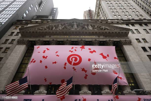 A banner for the online image board Pinterest Inc hangs from the New York Stock Exchange on the morning that Pinterest Inc makes its initial public...