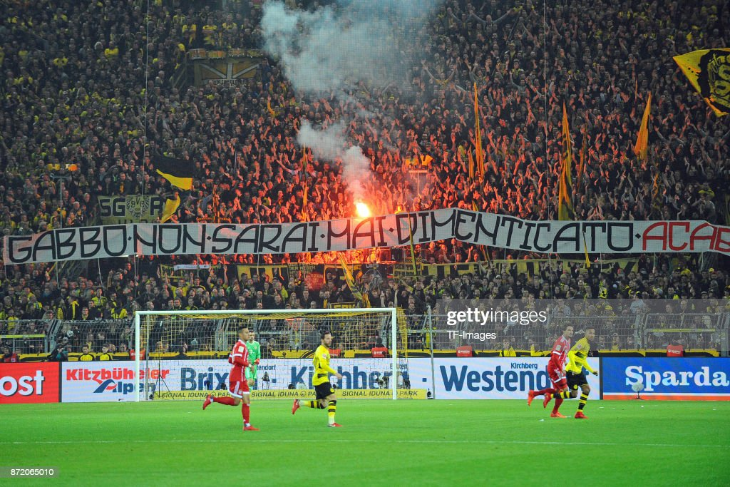 Banner From Supporters Of Borussia Dortmund Are Seen During The News Photo Getty Images